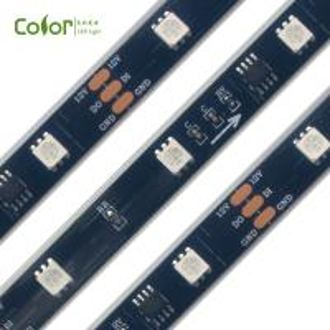 China 12V 30led/m 10pixel/m ws2811 rgb led strip waterproof IP67 on sale