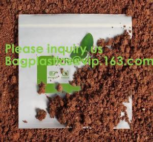 Wholesale 100% COMPOSTABLE ZIP BAG, 100% BIODEGRADABLE ZIPPER BAG, SACKS, D2W BAGS, EPI BAGS, DEGRADBALE BAGS, BIO BAGS, GREEN from china suppliers