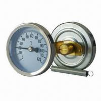 Wholesale Dial pipe bimetal thermometer with spring from china suppliers
