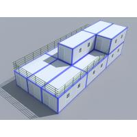 China Prefabricated Movable 40ft Storage Container Homes Economical 2 Story on sale