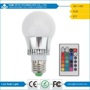 Wholesale B22 / E27 / E14 / GU10 LED Globe Light Bulbs, 3W RGB LED Bulb Lights With Remote from china suppliers