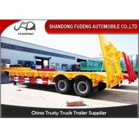 Wholesale 40T 2 Axle Flat Low Bed Semi Trailer / Lowboy Semi Trailer CCC Certification from china suppliers