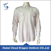 Buy cheap Cotton Twill White Long Sleeve Security Guard Shirts Traditional Style Printed Logo from Wholesalers