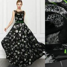 Quality silk fabric dandelion printed Silk chiffon fabric nature silk fabric for sale