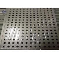 Wholesale Decorative Round Hole Aluminum Perforated Metal Meshfor External Wall Decoration from china suppliers