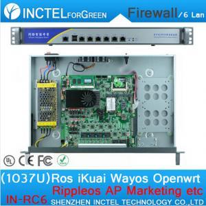 China 1037U multi gigabit network port routing 1U high end Firewall Server with Intel PCI E 1000M 6 82583V on sale