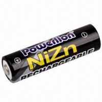 Wholesale NiZn 1.6V AA Rechargeable Battery with 2,500mWh Capacity  from china suppliers