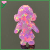 China OP22 Rose pink lab created synthetic fire little girl opal ethiopian opal price per gram on sale