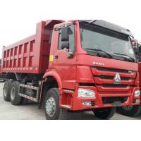 Wholesale 40t SINOTRUK HOWO Red heavy dump truck with 336hp euro ii emission standard from china suppliers