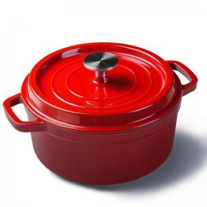 China Mini enamel cast iron cookware round pot Diameter 10cm red/blue/green/orange color on sale