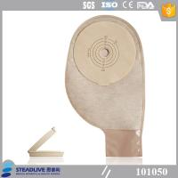 Buy cheap Less Residual Disposable Ostomy Bag With Light Brown EVOH Material from Wholesalers