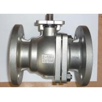 China SS ANSI Class 150 Quarter Turn Ball Valve 2 Way ISO 5211 Flange Type on sale
