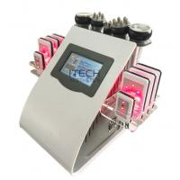 Wholesale 6 In 1 Lipo Laser + Cavitation + RF + Vacuum / RF Cavitation Vacuum Lipolaser Slimming Machine from china suppliers