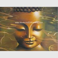 China Modern Buddha Statue Oil Painting , Handmade Abstract Canvas Oil Paintings Oriental on sale