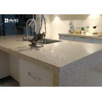 Wholesale Beige Glossy Polished Quartz Stone Countertops , Solid Surface Quartz Kitchen Top from china suppliers