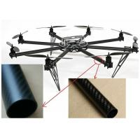 Wholesale round shape 25m,28mm,32mm diameter multi-rotor type aircraft  carbon fiber tube 3K plain/ twill surface with best price from china suppliers