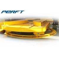 Buy cheap Heavy load industrial turntable rail transfer car for factory material crossing transportation in warehouse from wholesalers