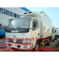 Wholesale Dongfeng 4*2 LHD  small refrigerated van and truck for sale ,4ton CLW brand refrigerator van truck for meat and fish from china suppliers
