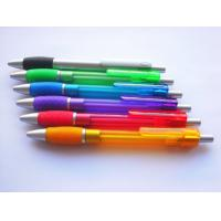 China Multi-color wave shape grip soft Rubber Barrel Promotional Cheapest Plastic ball Pen on sale