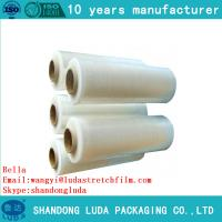 Wholesale 100% virgin material lldpe hand stretchwrap film China factory pre stretch 280% from china suppliers
