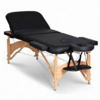 China Portable Massage Table and Bed with Beech Wood/Aluminum Headrest Frame on sale