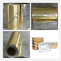 Wholesale 8011 golden coated  aluminium foil with pp film  for food contaier and lids from china suppliers