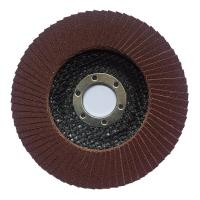 China 100*16 115*22 125*22 150*22 180*22  MM aluminium oxide flap disc with T27/T29 fiberglass or plastic backing on sale