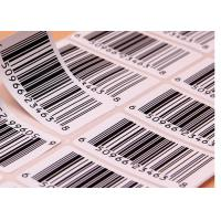 Buy cheap Supermarket Barcode Stickers Roll / Thermal Print Sticker Labels Die Cut Shape from wholesalers