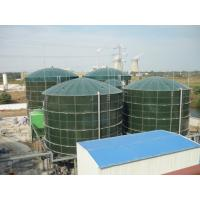 Wholesale Glossy Glass Lined Steel Tanks , Bolted Steel Tanks Gas / Liquid Impermeable from china suppliers