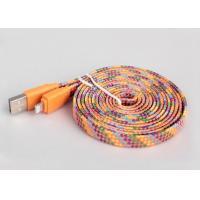 Wholesale 4ft Flat MFI Certified Cable For Apple Multicolor High Gloss Braided Textile from china suppliers