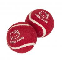 HELLO KITTY - Twin Pack Tennis Balls HK13 Pet Toy Gift