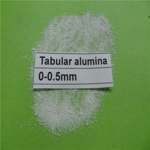Wholesale Al2O3 99.2 % high refractoriness tabular corundum tabular alumina for refractory castable from china suppliers