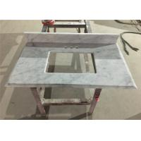 Wholesale Bianco Carrara Prefab Bathroom Countertops With Sink , Marble Bathroom Top from china suppliers