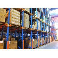 Quality Drive In Drive Through Racking System , Industrial Pallet Shelving For Food / Drink Storage for sale