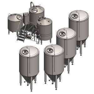 Wholesale Beer Brewing Equipment Simple/500L Beer Making Machines/800L Output Beer Machine/Birthday Party Beer Brewing Equipment from china suppliers