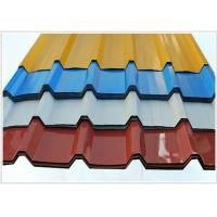 China 914 - 1250mm Width Corrugated Galvanized Steel Sheets / Steel Roofing Sheets on sale