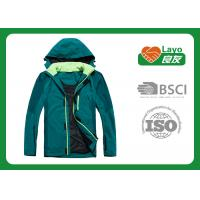 Buy cheap Outdoor Sport Warm Up Jackets For Camping / Hiking Green Blue Color from Wholesalers