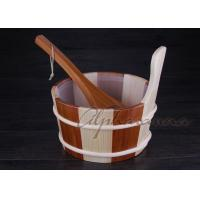 Buy cheap 1 Gallon Cedar Sauna Barrel Kits Plastic Liner With Cedar Dipper from Wholesalers