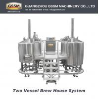 Wholesale Bar / Pub Brewery Equipment , 20 BBL Steam Heated Brewhouse With Two Vessels from china suppliers