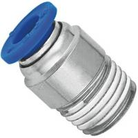Buy cheap Brass Nickel Planting Pneumatic NPT Threaded Fittings Push In Male Straight Run Body from Wholesalers