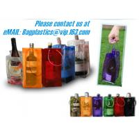 Wholesale PVC Ice bag, Wine Beer Gift Bags, Wine Bag, drink ice bags, portable wine bags from china suppliers