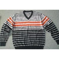 Wholesale Men′s Knitted Sweater, Cotton Pullover, Stripe Sweate (Sfy-A065) from china suppliers