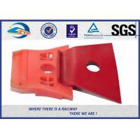 China Red Painting Nabla Railway Metal Spring Clips Steel 3 Million Times Fatigue Test on sale