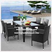Wholesale Modern and Simple Design for Outdoor Furniture with Glass from china suppliers