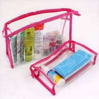 China Clear PVC Clear Travel Cosmetic Bag Airport Transparent Liquid Cabin Holiday Pouch set on sale