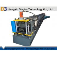 China 1000mm Coil Sheet Rain Gutter Making Machine With Panasonic / Siemens PLC Control System on sale