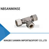 China Brass Compression Fitting Pneumatic Air Fittings 4 , 6 , 8 , 10  12 mm Port Size on sale