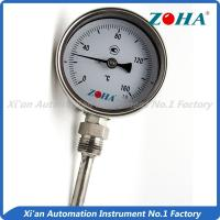 Quality Dial Type Metal Stem Thermometer / Small Bimetallic Temperature Gauge for sale