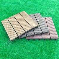 Wholesale 2017 wood plastic composite Solid DIY Decking flooring 300*300mm for interior/exterior home decor China Manufacture from china suppliers