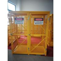 "Wholesale 71-3/4"" X 60"" X 30"" Assembled Yellow Industrial Safety Cabinets Gas Cage Cylinder Storage from china suppliers"